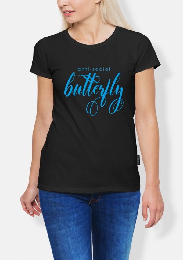 Koszulka antisocial butterfly
