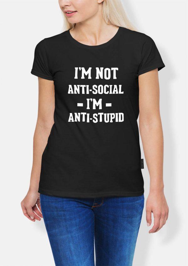 Koszulka antisocial antistupid
