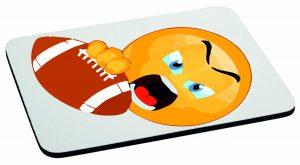 Podkładka pod mysz emotka american footballa