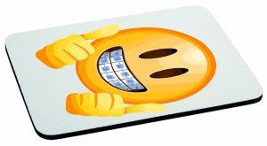 Podkładka pod mysz emotka aparat na zęby