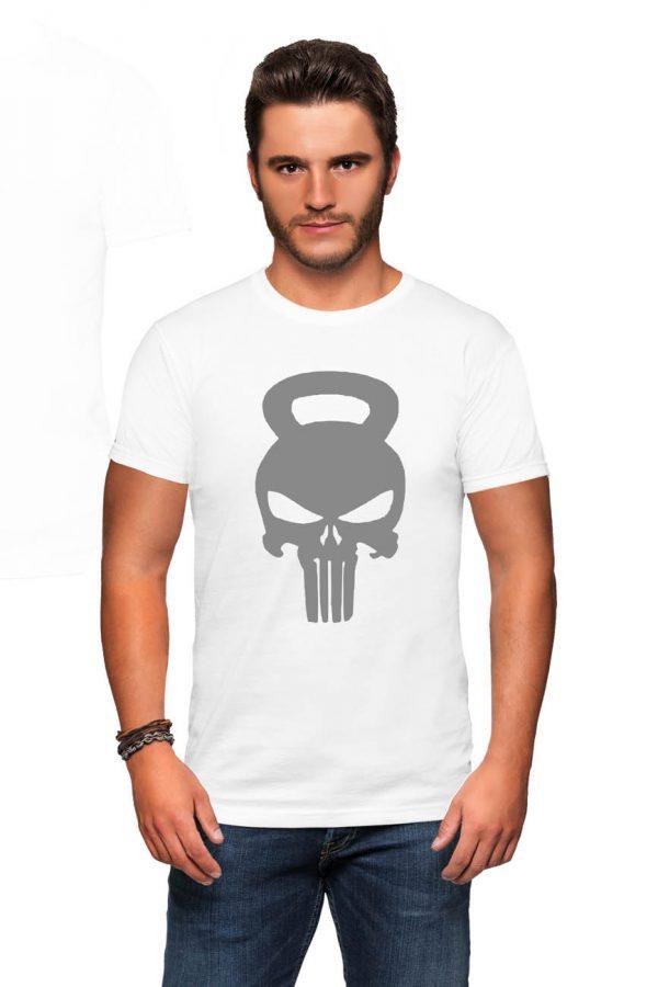 Koszulka kettlebell czaszka