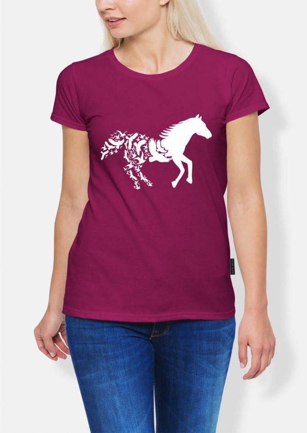 Jeździectwo koń i ptaki