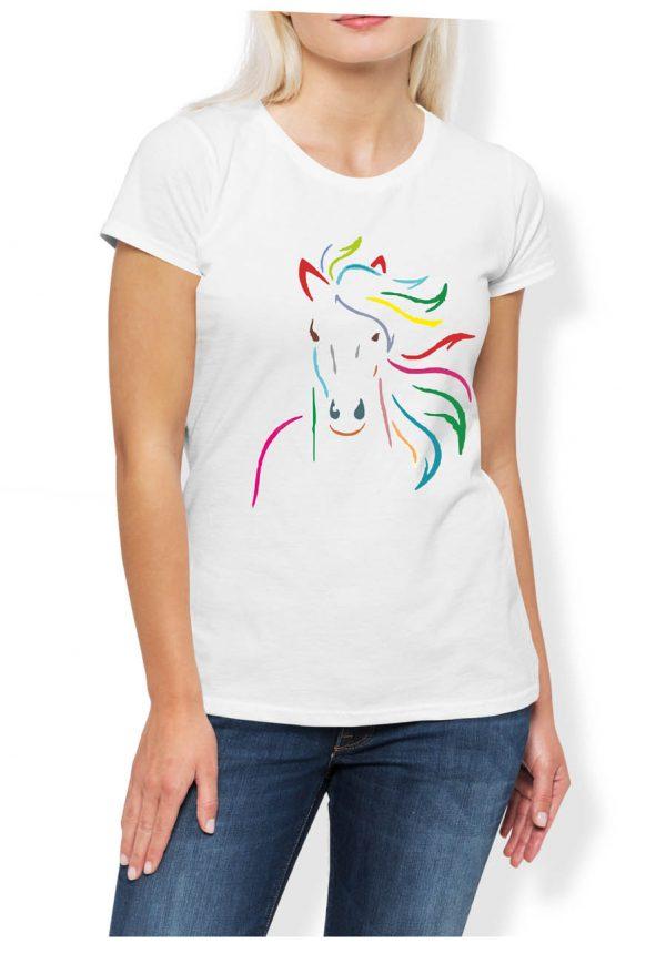 Jeździectwo koń w kolorach