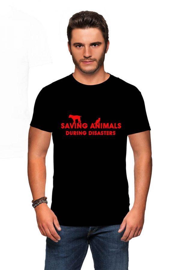 Koszulka ochrona zwierząt saving animals during disasters