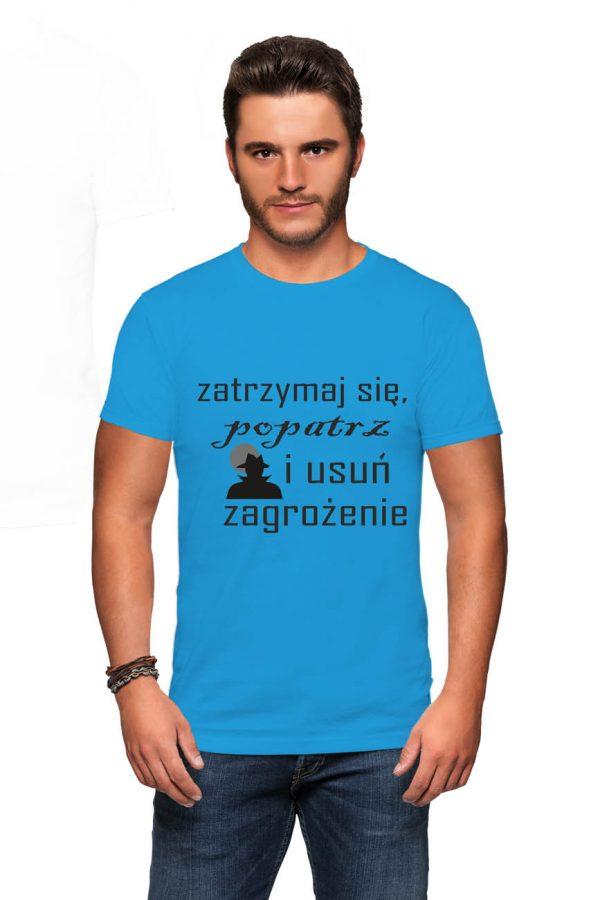 Koszulka zatrzymaj się popatrz i usuń zagrożenie