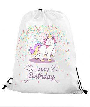 Worek szkolny jednorożec urodzinowy