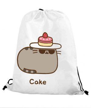 Worek szkolny kot puszin cake