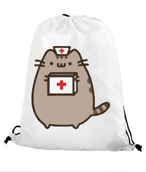 Worek szkolny kot puszin pielęgniarka