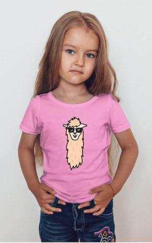 Koszulka lama w okularach