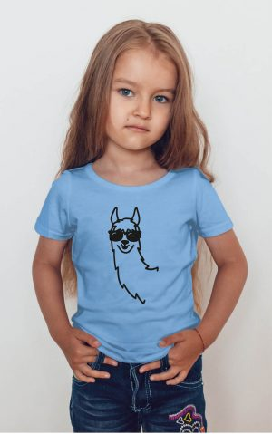 Koszulka lama czarna w okularach