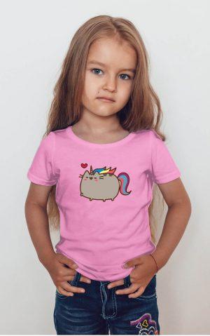 Koszulka kot puszin jednorożec z sercem